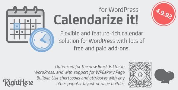 Calendarize it! for WordPress free download wpzones