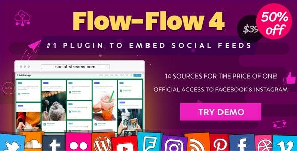 Facebook Instagram Twitter Feed — WordPress Social Feed Grid Gallery Plugin free download wpzones