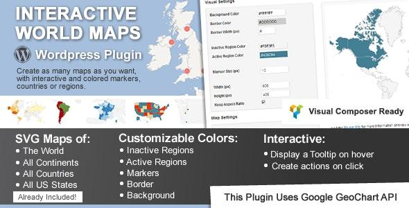 Interactive World Maps wordpress plugin free download wpzones