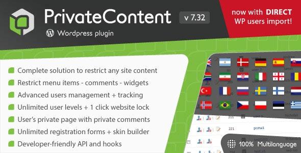 PrivateContent - Multilevel Content Plugin free download wpzones