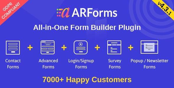 ARForms Wordpress Form Builder Plugin free download wpzones