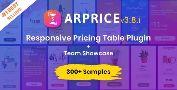 ARPrice - WordPress Pricing Table Plugin free download wpzones