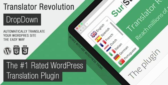 Ajax Translator Revolution DropDown WP Plugin free download wpzones