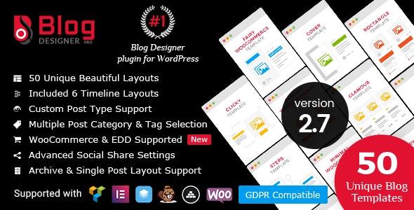 Blog Designer PRO for WordPress plugin free download wpzones