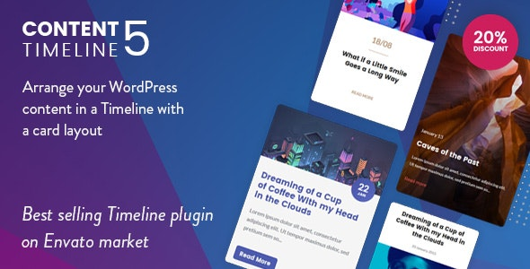 Content Timeline - Responsive WordPress Plugin for Displaying Posts Categories in a Sliding Timeline free download wpzones