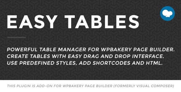 Easy Tables - Table Manager for WPBakery Page Builder free download wpzones