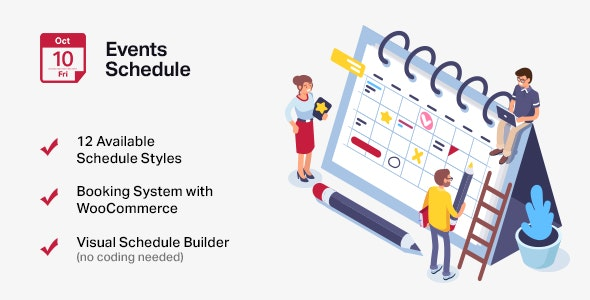 Events Schedule - WordPress Events Calendar Plugin free download wpzones