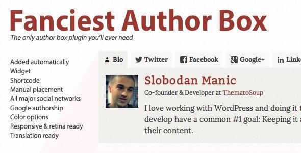 Fanciest Author Box wordpress plugin wpzones themeforest codecanyon