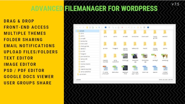 File Manager Plugin For WordPress free download wpzones themeforest codecanyon