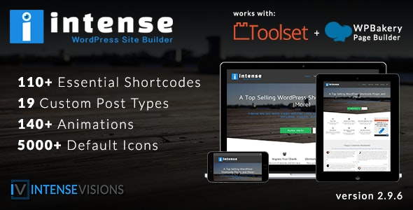 Intense - Shortcodes and Site Builder for WordPress plugin free download wpzones