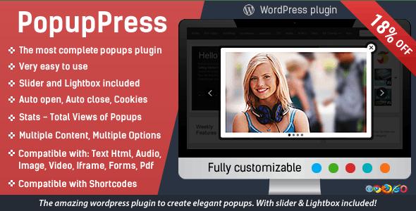 Popup Plugin for WordPress - Popup Press - Popups Slider & Lightbox free download wpzones