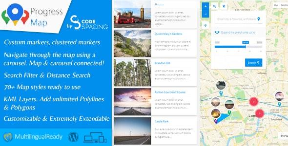 Progress Map Wordpress Plugin free download wpzones