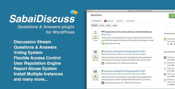 Sabai Discuss - Q&A forum plugin for WordPress free download