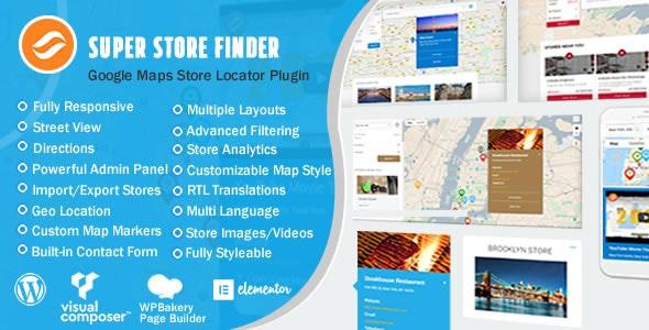 Super Store Finder for WordPress Google Maps Store Locator plugin free download wpzones