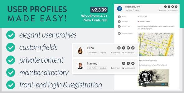 User Profiles Made Easy - WordPress Plugin free download wpzones