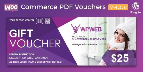 WooCommerce PDF Vouchers - WordPress Plugin free download wpzones