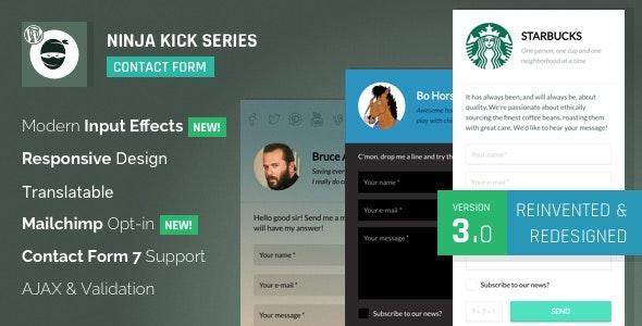 WordPress Contact Form Plugin Ninja Kick free download wpzones