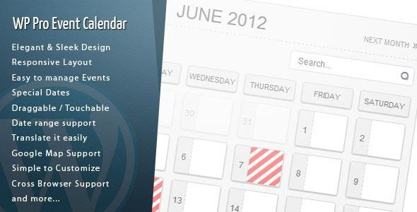 WordPress Pro Event Calendar plugin free download wpzones