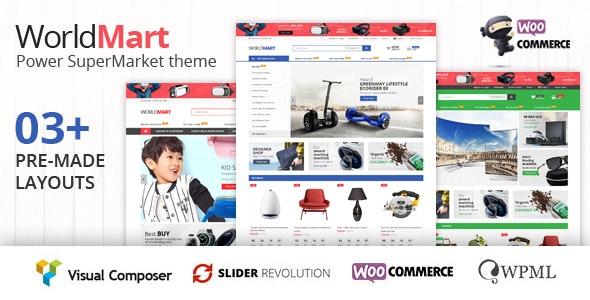 Worldmart - Electronics Multipurpose WooCommerce WordPress Theme free download wpzones