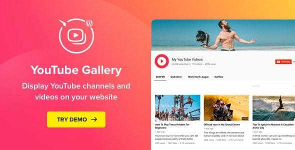 YouTube Plugin – WordPress YouTube Gallery plugin free download wpzones