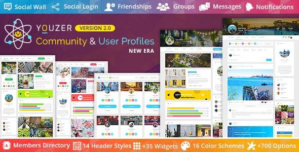Youzer - Buddypress Community & Wordpress User Profile Plugin free download wpzones