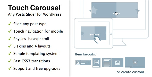 TouchCarousel - Posts Content Slider for WordPress plugin free download